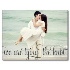 Whimsical Calligraphy Save The Date Postcard
