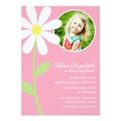 Whimsical Daisy Custom Photo Invitation Card