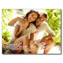 Whimsical Script Save The Date Photo Card Postcard