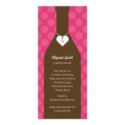 Wine Bottle Bridal Shower Invitations - Pink Invitation Card
