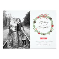 Winter Wreath By Holiday Photo Cards Invitation Card