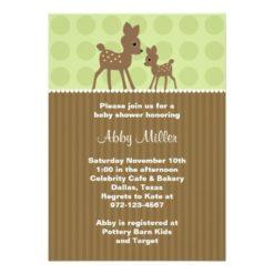 Woodland Deer Baby Shower Invitation Card