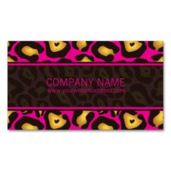 Mod Leopard Appointment Business Card (Hot Pink)