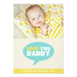 Yellow Chevron Love You Daddy   Father'S Day Card Invitation Card