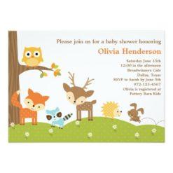 Cute Woodland Animal Invitation Card