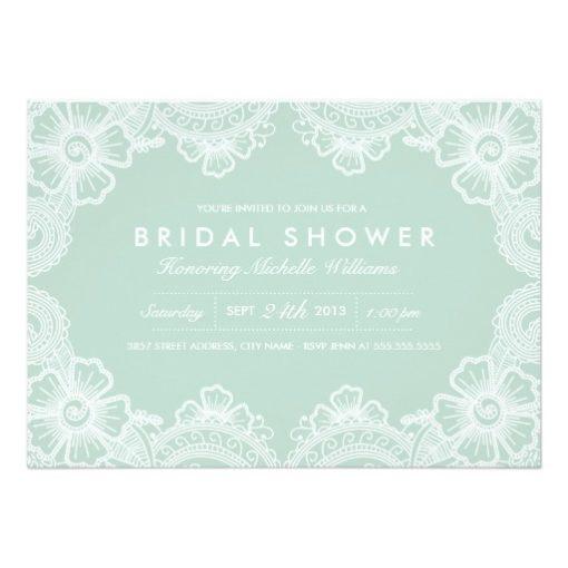 Graceful Lace Bridal Shower Invitation Card
