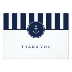 Nautical Navy Thank You Card Invitation Card