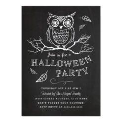 Spooky Owl Halloween Party Invitation Card