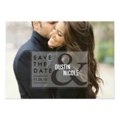 Ampersand Save The Date | Weddings Invitation Card
