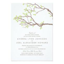 Blissful Branches Wedding Invitation Card