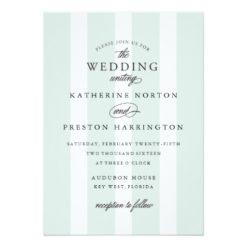Classic Stripes Wedding Invitation In Light Blue