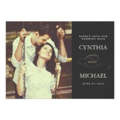 Classic Photo Save The Date Card