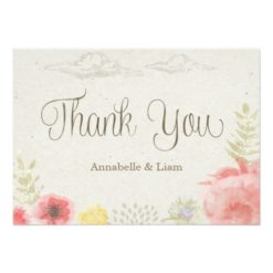 In The Meadow Summer Wedding Thank You Invitation Card