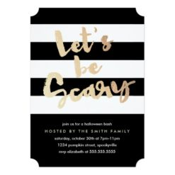 Let'S Be Scary Invitation Card