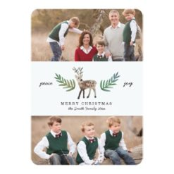Loved Dearly 2 Photo Holiday Invitation Card