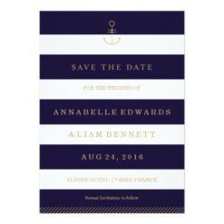 Modern Nautical Save The Date Card