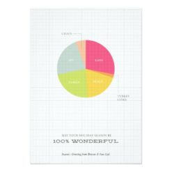 Pie Chart Corporate Holiday Greeting Invitation Card