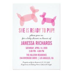 Ready To Pop Stylish Girl Baby Shower Invitations