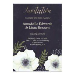 Summer Night Flowers Wedding Invitation