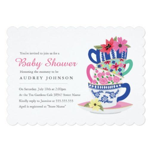 Tea Time Baby Shower Invitation