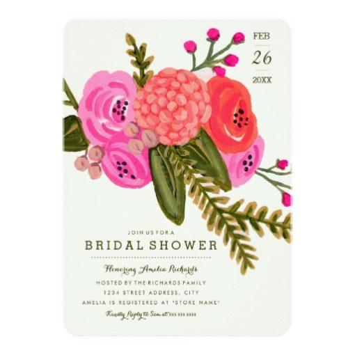 Vintage Garden Bridal Shower Invitation Card