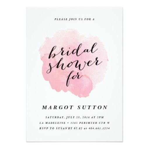 Watercolor Spotlight | Bridal Shower Invitation