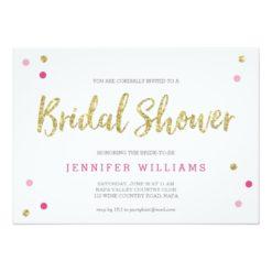 Bridal Bling Gold | Bridal Shower Invitation