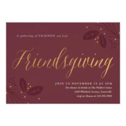 Friendsgiving Dinner Party Invitation