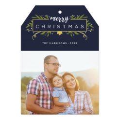 Gilded Christmas Photo Holiday Card