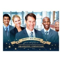 Happy Holidays Corporate Photo Template Cards