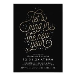 Ring In The New Year New Year'S Eve Party Invite