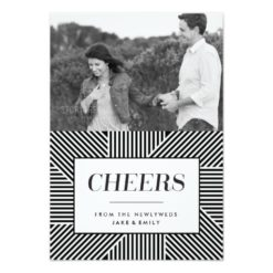 Bold Holiday Engagement Newlywed Card