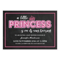 Cute Princess Baby Shower Invitations   Modern