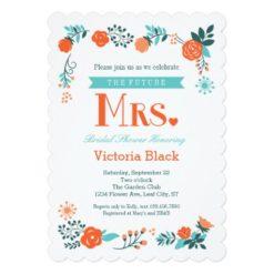 Future Mrs. Floral Bridal Shower Invitation