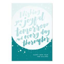 Joyful Tomorrow Holiday Card