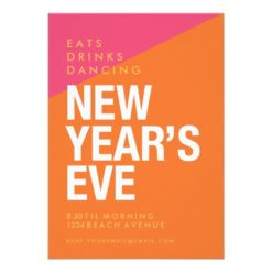 New Year's Eve Party Invitation Bold And Modern Invitation Card