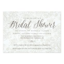 Rustic Fall Shower Invitation With Vintage Lace