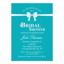 Tiffany Inspired Bridal Shower Invitation