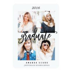 Class Of 2016 Framed Photo Graduation Invite