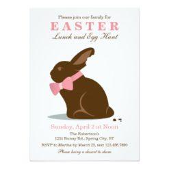 Big Chocolate Bunny Easter Invitation