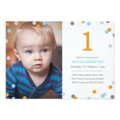 Confetti Photo Birthday Invitation Card