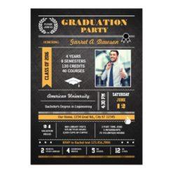 Infographic Graduation Invitation