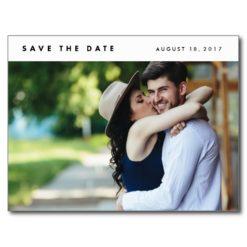 Minimalist Modern Photo Save The Date Postcards
