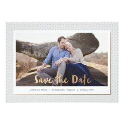 Petite Dots Save The Date Invitation Card