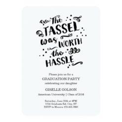 Trendy Text Graduation Invitation