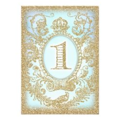 First Birthday Once Upon A Time Prince Invitation Card