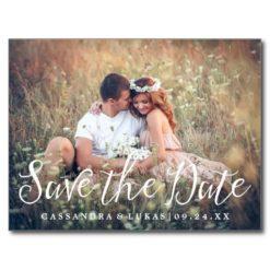 Simple Romance Photo Save The Date Postcard