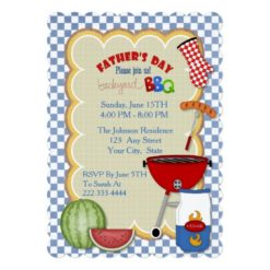 BBQ Party Fathers Day Invitation
