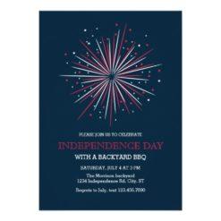 Big Fireworks 4th Of July Invitation