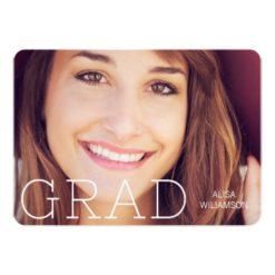 Modern Type Overlay Graduation Annoucement Card